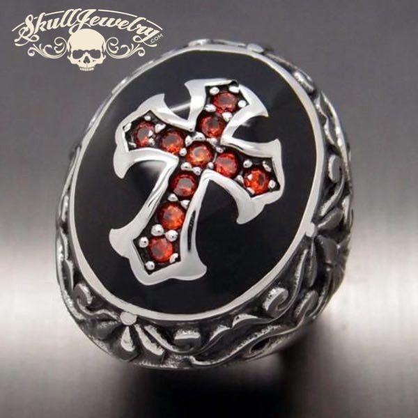 Deus Vult Cross Ring