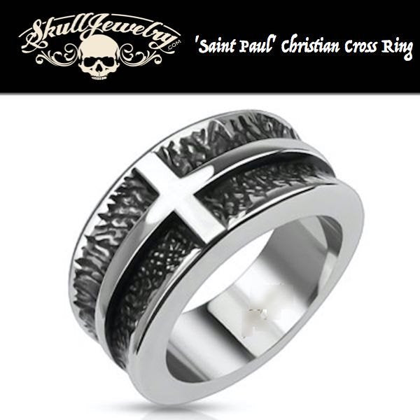 'Saint Paul' Christian Cross Ring