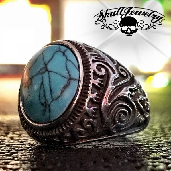 'Land of the Navajo' Stainless Steel Ring