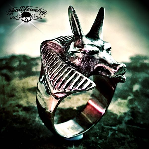 Egyptian 'Anubis' Canine/Wolf Ring