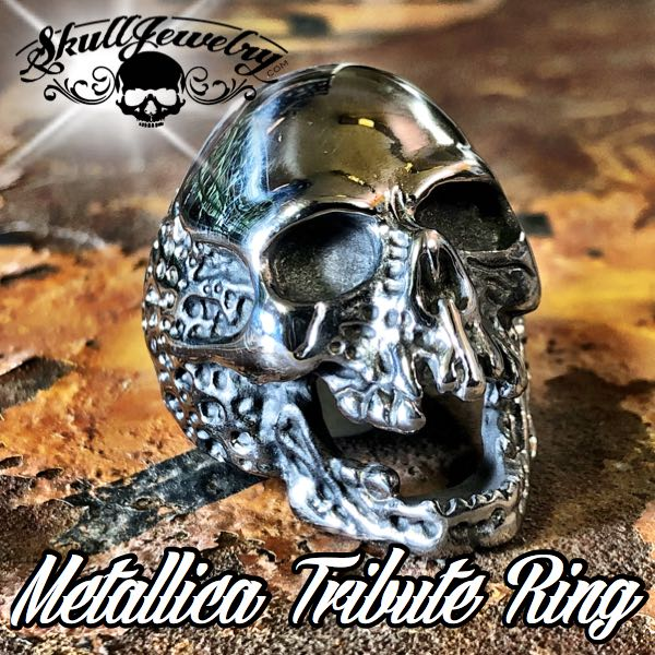 'The Plague' Skull Ring Metallica 'Cliff Burton' Tribute Ring