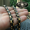Black/Gold Stainless Steel Byzantine Chain Bracelet and/or Necklace