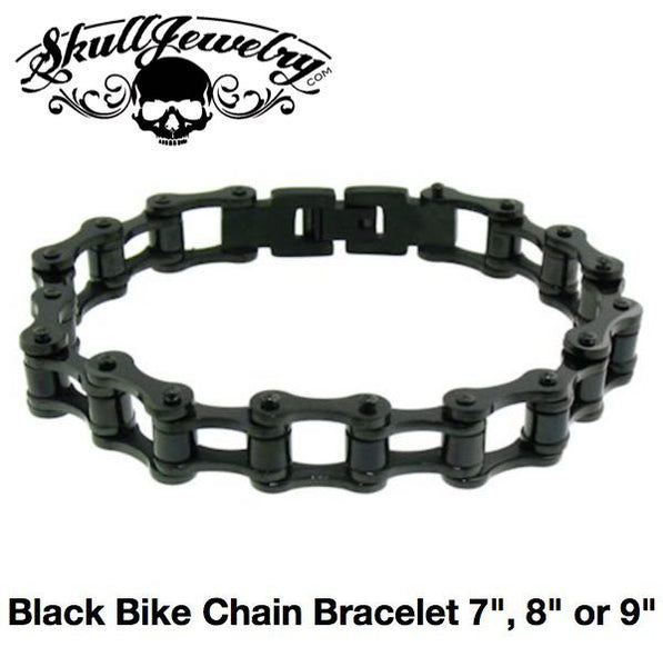 Black Bike Chain Bracelet 7
