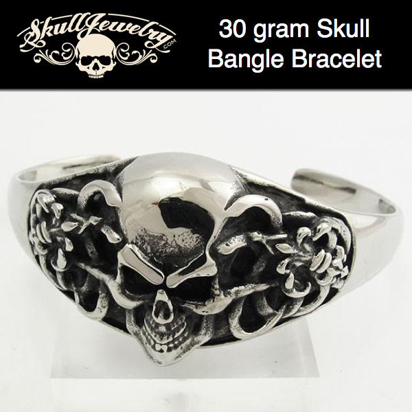 'Strange Magic' Skull Bangle Bracelet