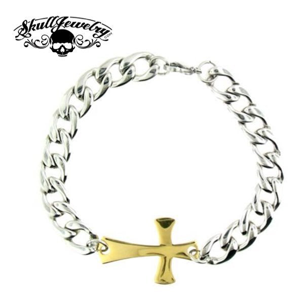 'Jesus Is Just Alright With Me' Cross Bracelet