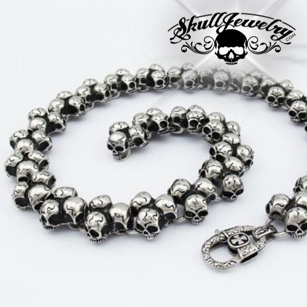 '84 Skulls' Big, Bold & Heavy 320 Gram Triple Skull Chain