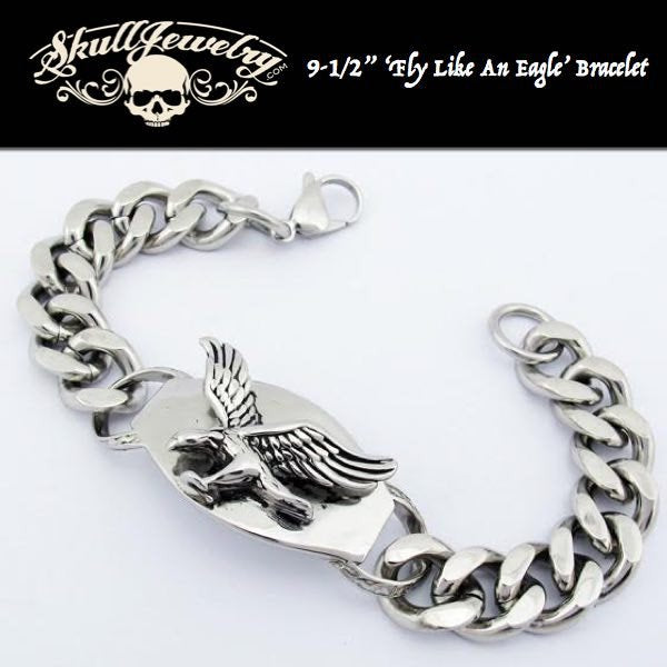 'Fly Like An Eagle' Stainless Steel Bracelet