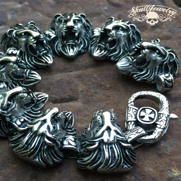 'Lion Heart' Big Bold Heavy Lion Bracelet