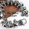 Go Your Own Way Big , Bold & épais en acier inoxydable 14 Skulls Bracelet