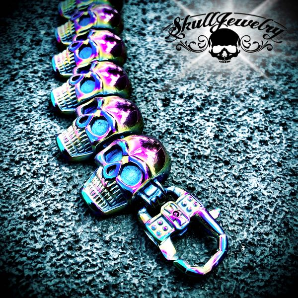 Multi-Color 'Go Your Own Way' Big & Bold Skull Bracelet (894multi)