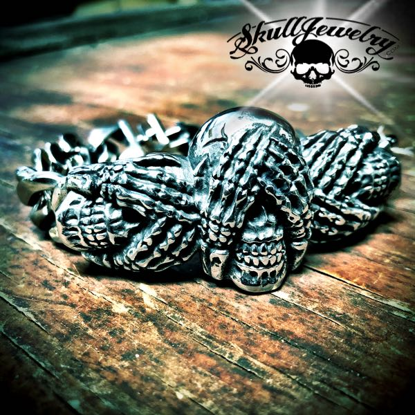 'See no Evil, Hear No Evil, Speak No Evil' Steel Bracelet