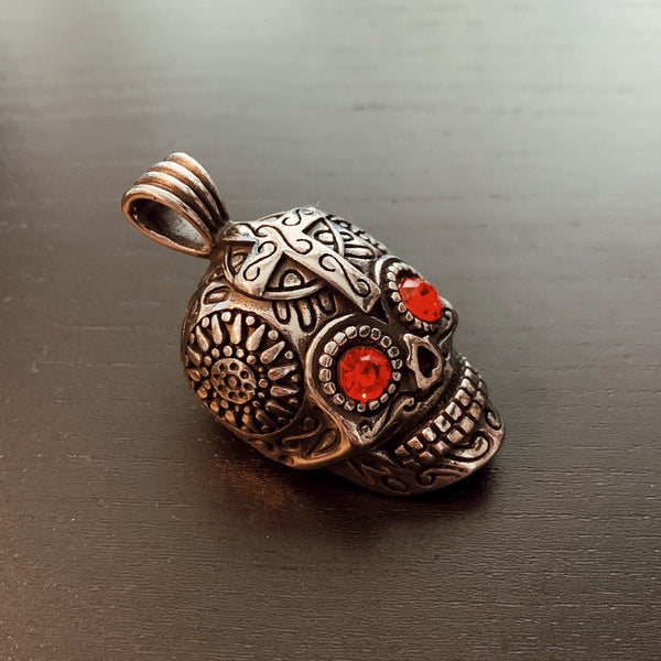 $20 Tuesday 'Les Yeux Rouges' All Stainless Skull Pendant (p273)