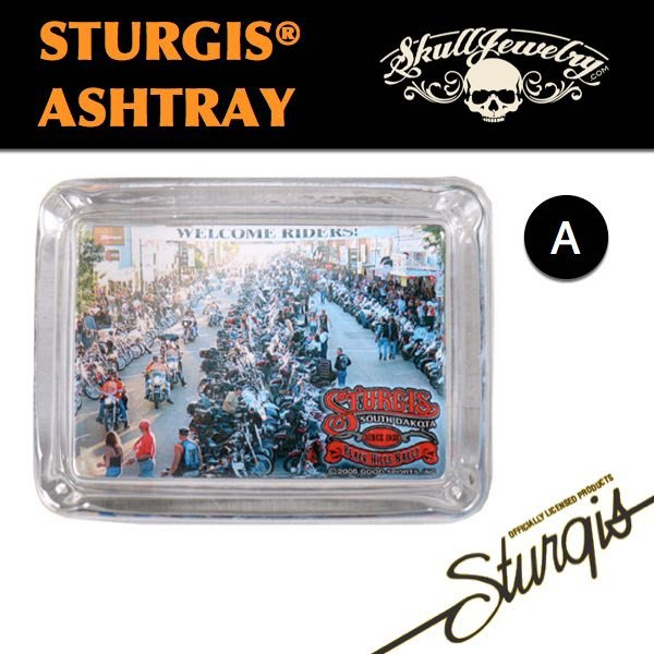 A - Sturgis Ashtray - Welcome Riders - Black Hills Rally