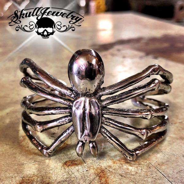 Big Bold & Heavy Spider Bangle Bracelet