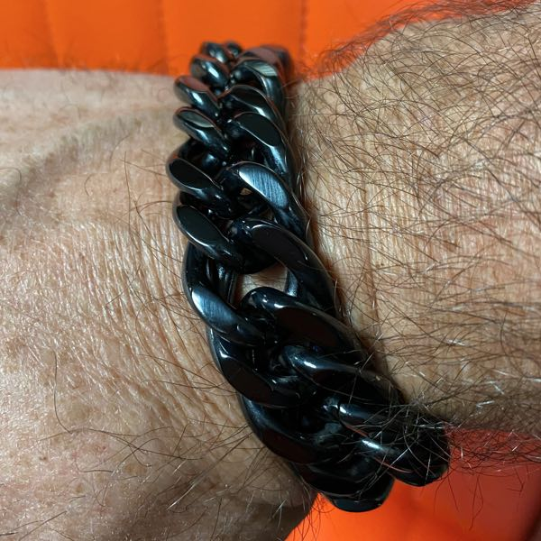 Big, Bold, Wide & Heavy Black Bracelet (3 Lengths)