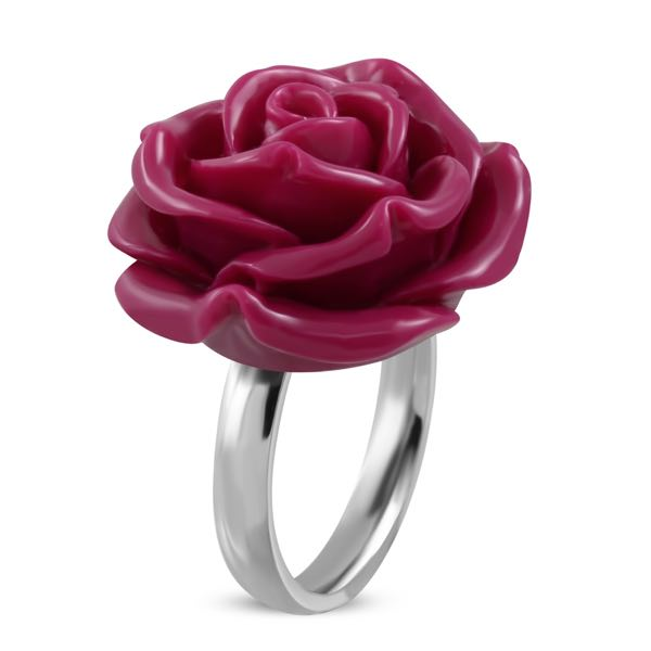 Big Fuchsia Rose Ring
