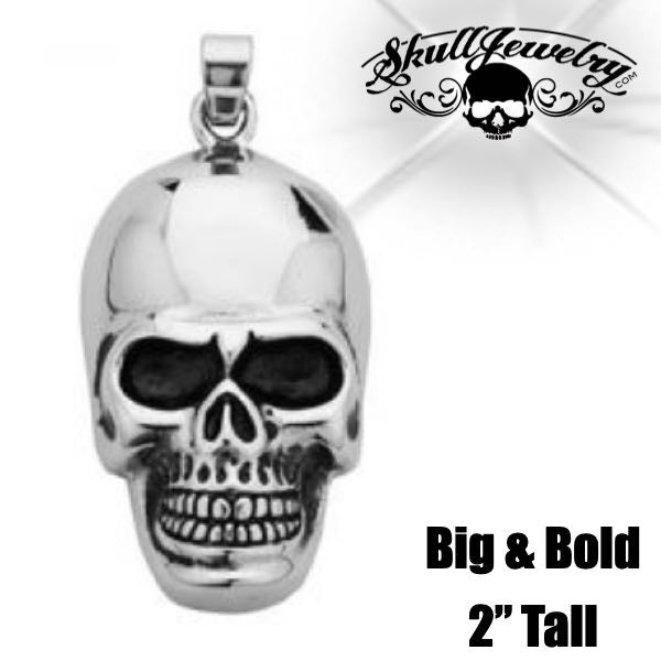 Big Polished Skull Pendant