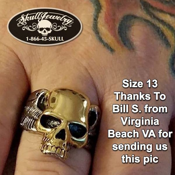 Bill S. from Virginia Beach VA Rock'n a two tone gold skull ring