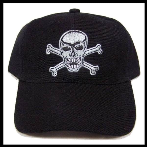 Black Skull & CrossBones Baseball Cap