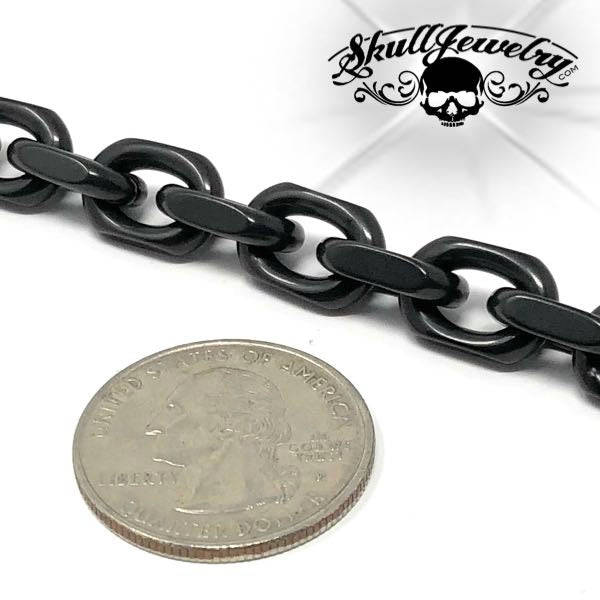 Black Link Stainless Steel Bracelet