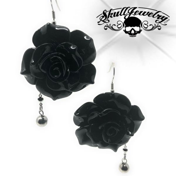 'Black Rose' Earrings