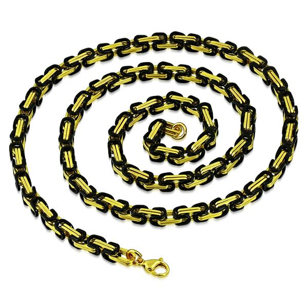 Black and Gold Necklace (c346)