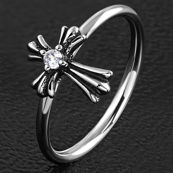 'Blessed Assurance' Dainty Ring (c198)
