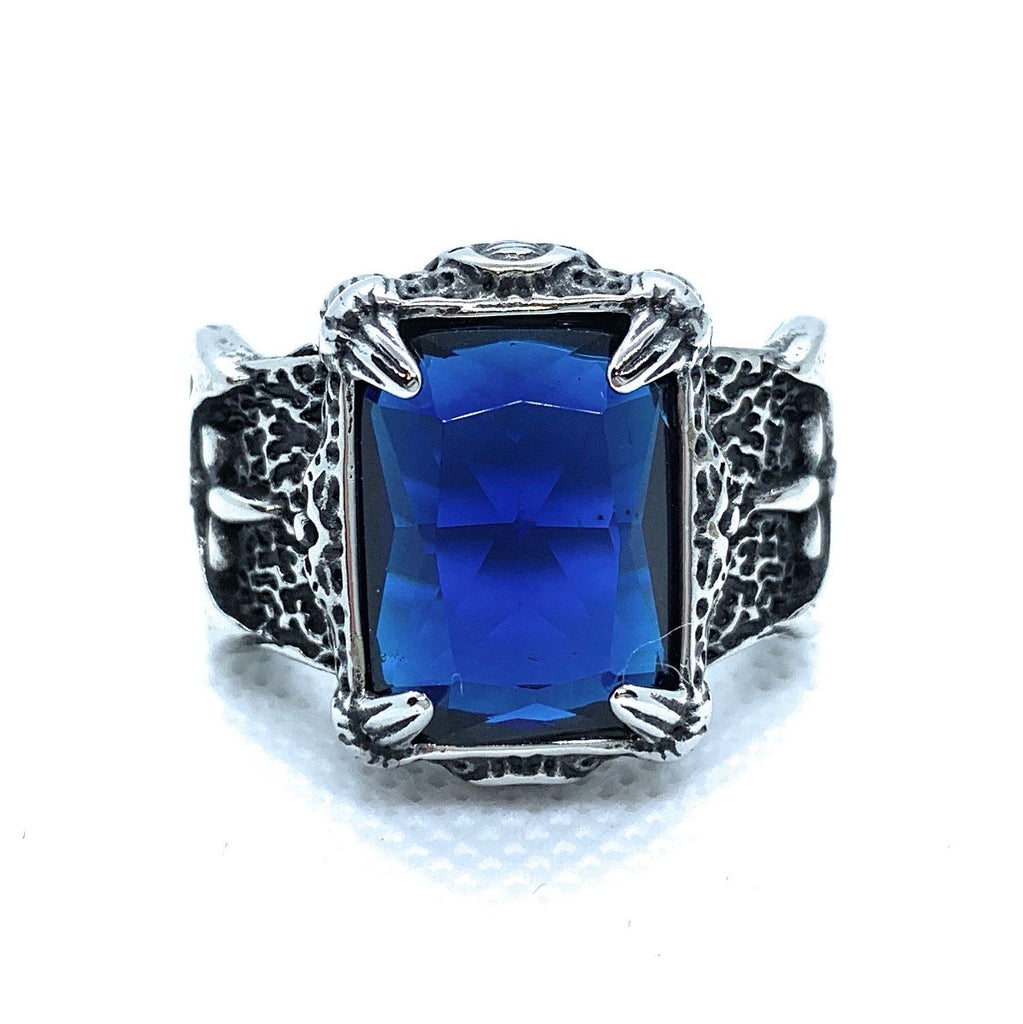 'Blood Templars' BLUE Gemstone Ring (464BLUE)