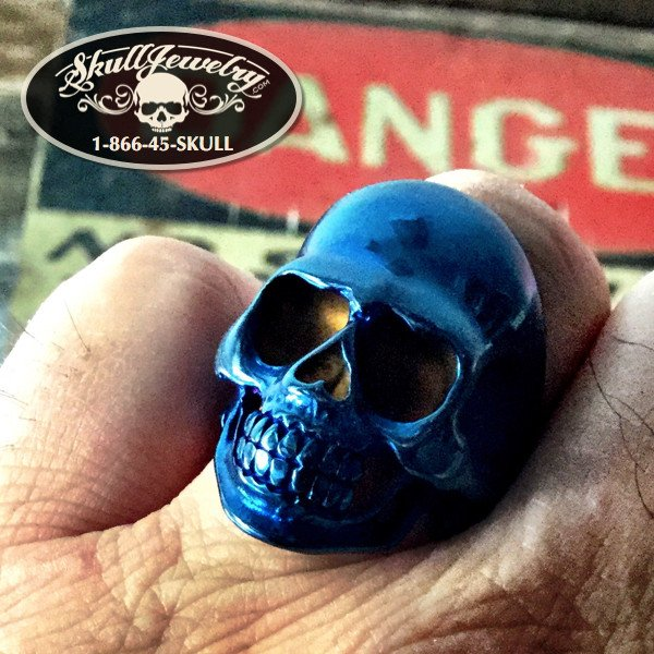 Danger - 'Blue Collar Man' Skull Ring
