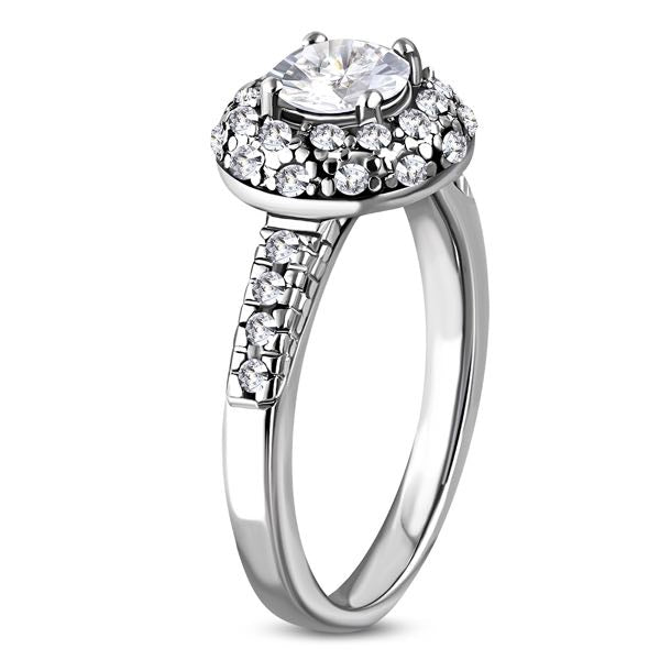 CZ Circle Stoned Wedding Ring