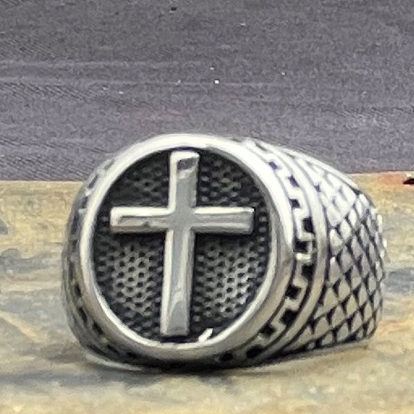 'Cruz Cristiana' Cross Ring