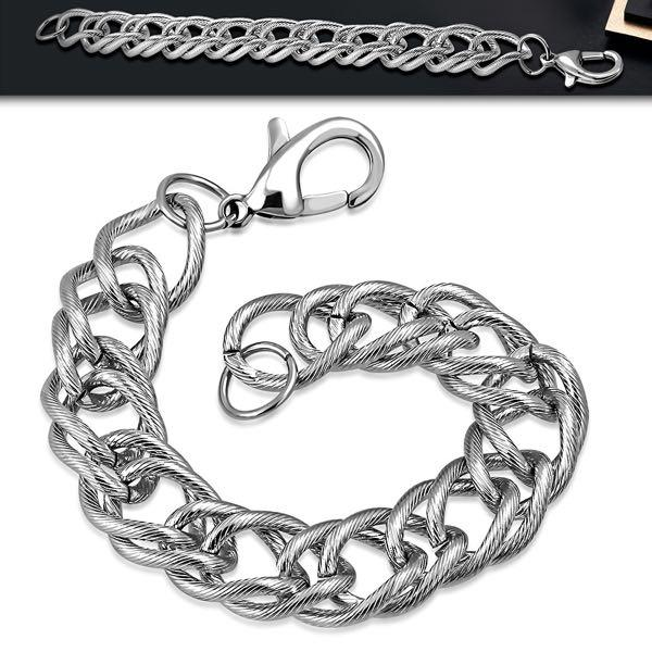 Cuban Link Chain Lobster Clasp Closure Bracelet