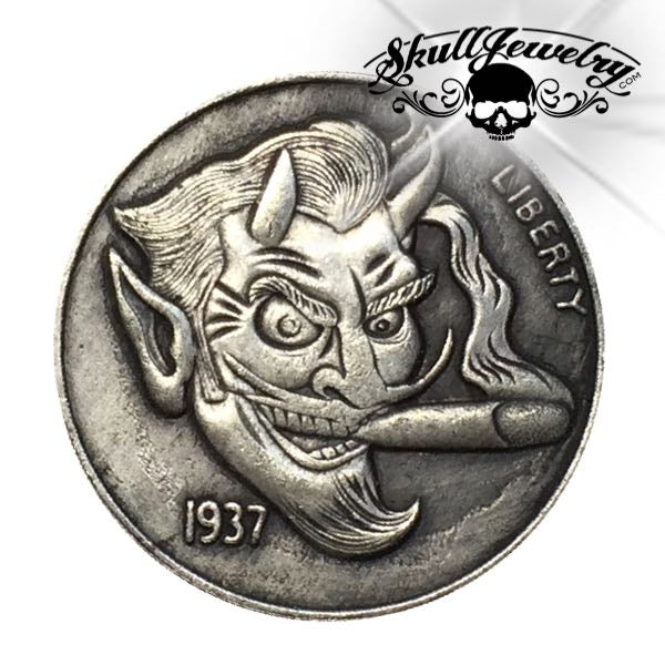 'Devilish' 1937-D 3-Legged Buffalo Hobo Nickel