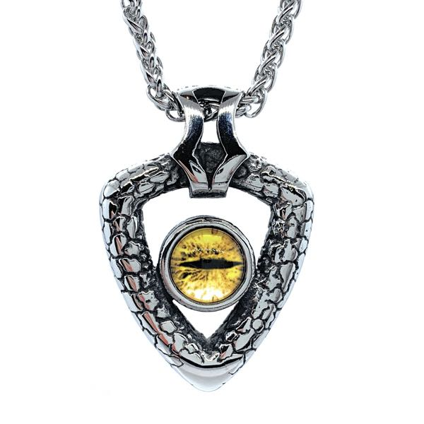 Double Sided Dragon Eye Pendant with yellow eye