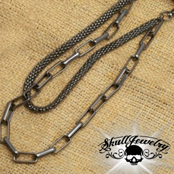 'Drift Away' Big, Bold & Heavy Gray Wallet Chain