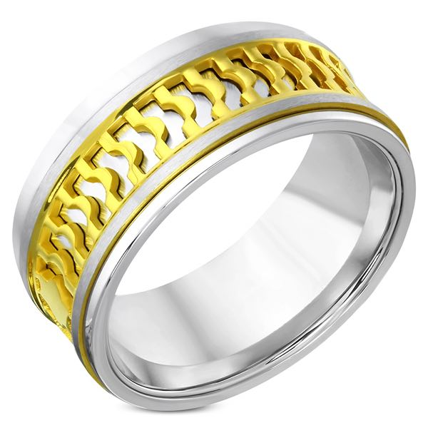 Echoing Gold Star Stainless Steel Band (c090)