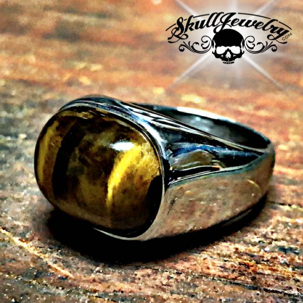 'Eye of the Tiger' Stainless Steel Ring (077)