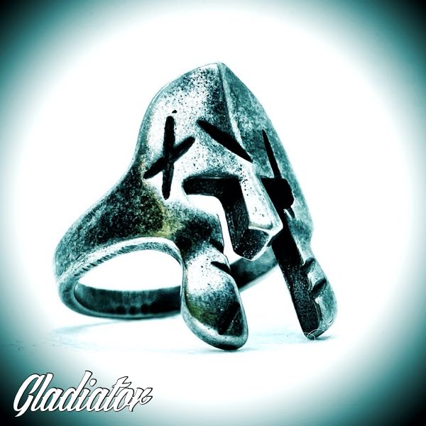 'Gladiator' Steel Mask Ring (129)