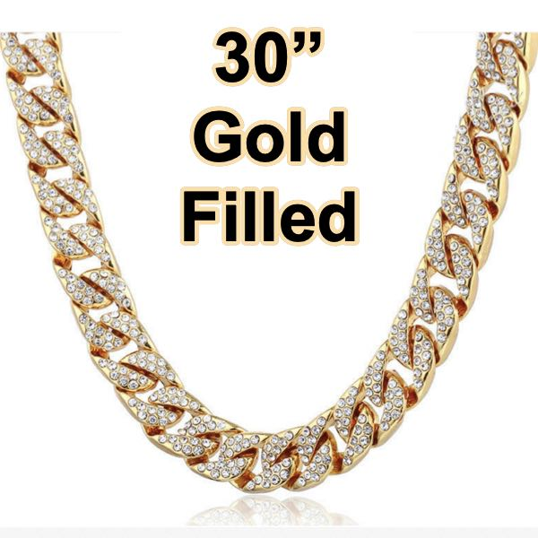 Gold-Filled 'Iced Out' 30