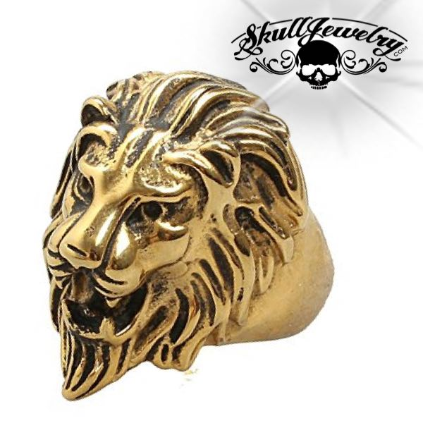Gold-Tone 'Lion Heart' Big, Bold & Heavy Ring