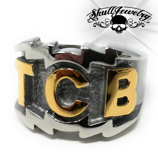 Gold-Tone 'TCB' Elvis Presley Ring