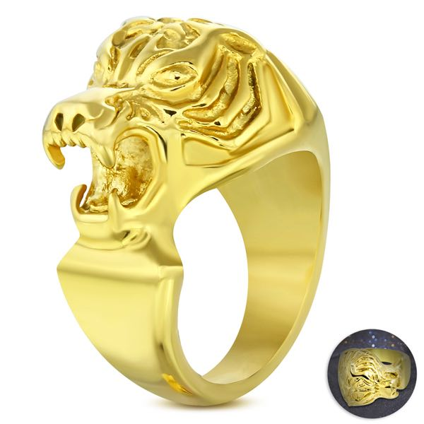 Gold Tiger Ring