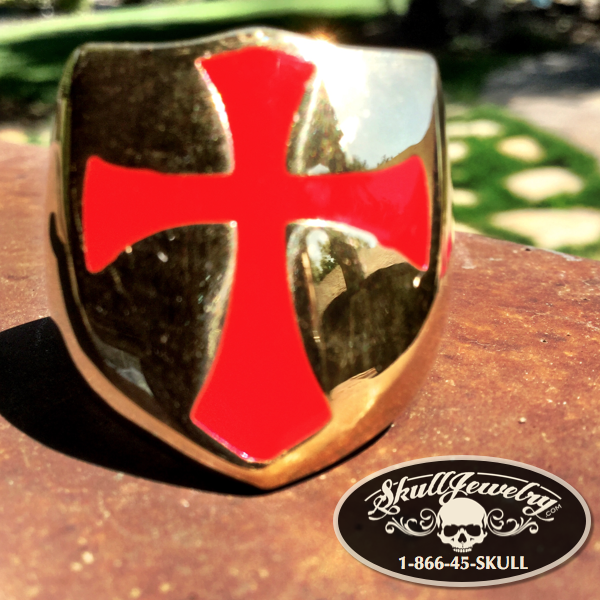 Red Cross on Gold Ring