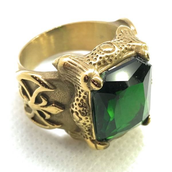 Green-Stone 'Blood Templars' Ring