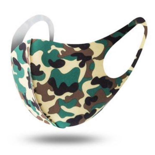 Green Camouflage Washable Face Mask