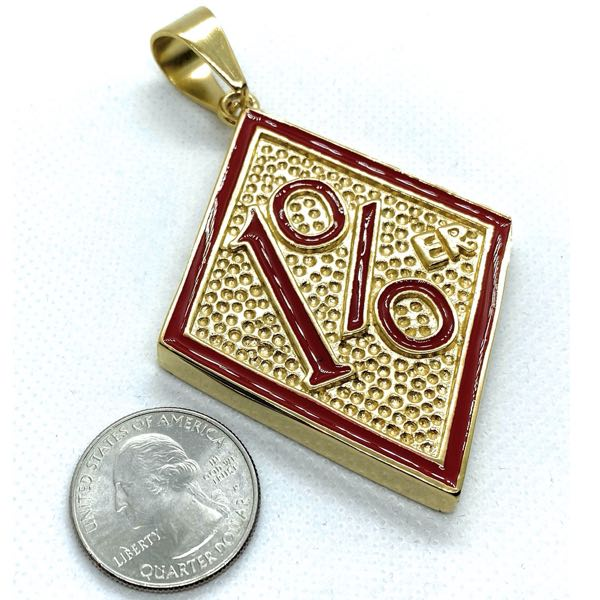 HUGE 1% Stainless Steel Gold-Tone Pendant (c150)