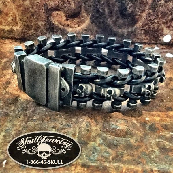 Hold the Line' Gun Metal Stainless Steel