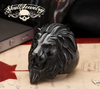 BLACK 'King Leonidas' the Lion - Big, Bold & Heavy Ring (326)