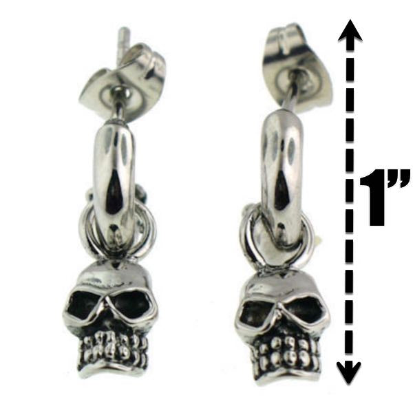 'Let Em Dangle' Skull Earring
