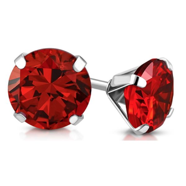 Light Red Swarovski Crystal Stud